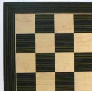 WW Chess 55500EBC 19 Ebony and Maple Veneer Board