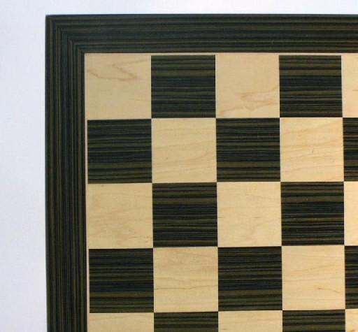 WW Chess 60560EBC Ebony and Maple Veneer Board