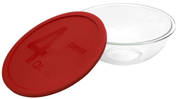 Pyrex 1069533 4qt  Mixing Bowl with Red Cover