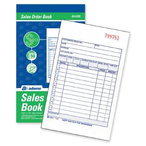 Adams Business Forms TC4705 BOOK CARBNLSS SALES FRM