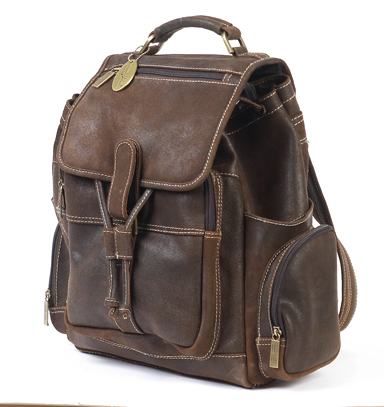 Claire Chase 332S-d.brown Uptown Bak-Pak - Distressed Brown