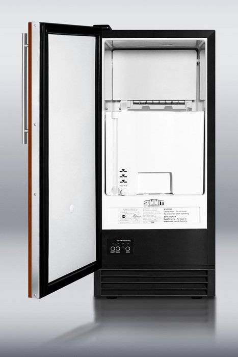 Summit Appliances BIM44IF Built-in automatic defrost icemaker with integrated door frame -Black