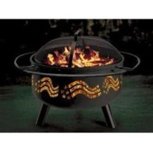 Stone River Gear SRG1FP-FLAG Stars & Stripes Combo Firepit-Grill STRG026