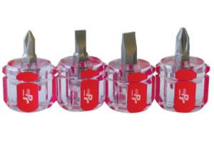 Wilmar PMW80004 4 Piece Mini Stubby Screwdriver Set