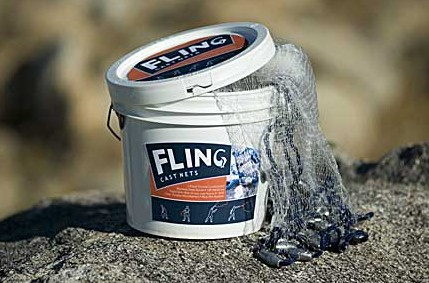 Adventure Products 41201 Fling Cast 4 Foot Net - 0.5 Inch Mesh