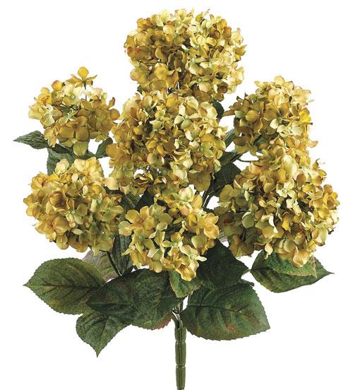20 Inch Hydrangea Bush - Green - Qty of 6