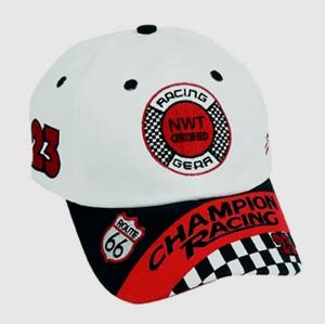 Aeromax RSBW-CAP Jr. Champion Racing Black and White Cap - Adj Youth Size