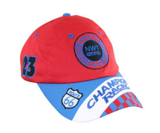 Aeromax RSRB-CAP Jr. Champion Racing Red and Blue Cap - Adj Youth Size