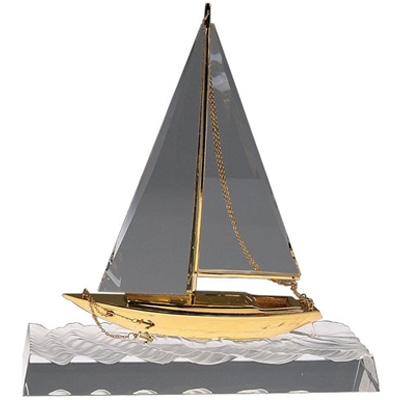 Bluestone Designs G198 Crystal Wave-Breaking Yacht - Large