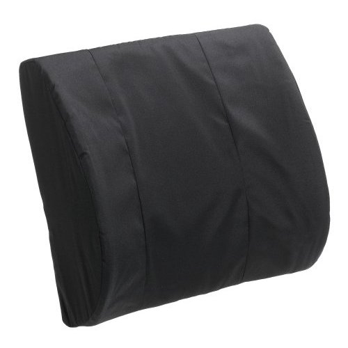Duro-Med 555-7300-0200 Standard Lumbar Cushion With Strap - Black