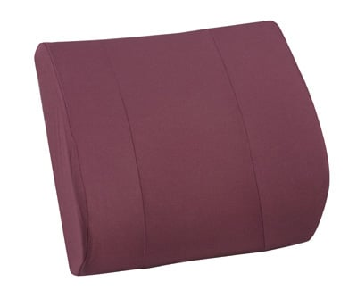 Duro-Med 555-7302-0700 RELAX-A-Bac Lumbar Cushion With Insert - Burgundy