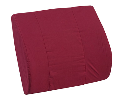 Duro-Med 555-7921-0700 Memory Foam Lumbar Cushion - Burgundy