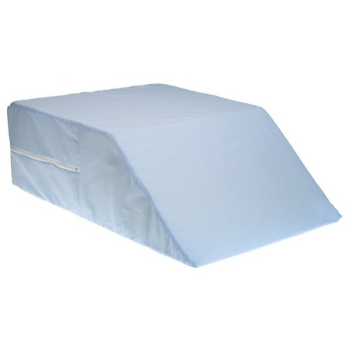 Duro-Med 555-8071-0123 Ortho Bed Wedge With Blue Polyester-Cotton Cover - 8 x 20 x 26