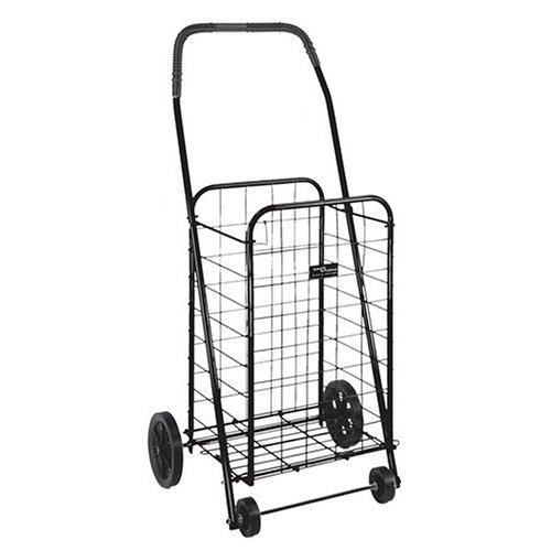 Duro-Med 640-8213-0200 Folding Shopping Cart - Black