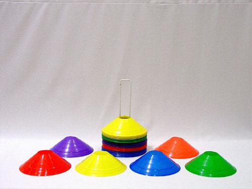 Everrich EVB-0003 8 x 2 Inch Half Cones - 36 Pieces of 6 Colors