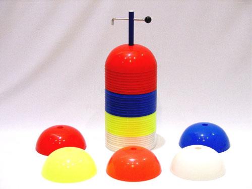 Everrich EVB-0020 Rigid Dome Cones - 7.75 x 3.5 Inch - 36 Pieces of 6 Colors