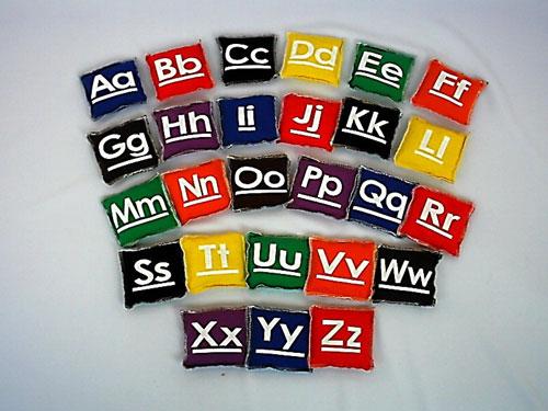 Everrich EVC-0012 5 x 5 Inch Alphabet Beanbags - Set of 26