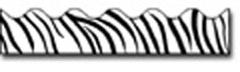 Carson Dellosa Cd-1244 Border Zebra Print-Scalloped