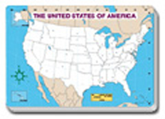 Carson Dellosa Cd-3091 Jumbo Map Pad U.S. Blank-30/Pk 16 X 10-3/4