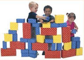 Smart Monkey Ima1040 Imagibricks Giant Building 40Pc Set Block Set