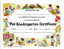 Hayes School Publishing H-Va199Cl Certificate Pre-K Set- 30 8.5 X 11