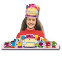 Carson Dellosa Cd-0232 Birthday Crowns 2-Tier Cake-30/Pk