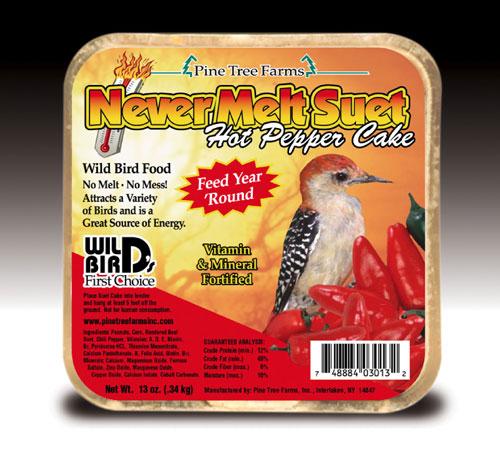 Pine Tree Farms PTF3013 12 Oz. Never Melt Suet Hot Pepper Bird Seed