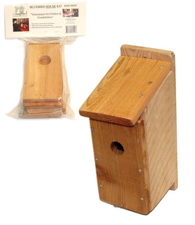 """Songbird Essentials SESC00605 12.5"""" x 4.5"""" x 3.25"""" Bluebird House Kit"""