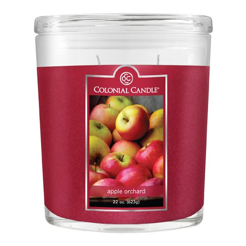 Fragranced in-line Container CC022.1135 22oz. Oval Apple Orchard Candles - Pack of 2