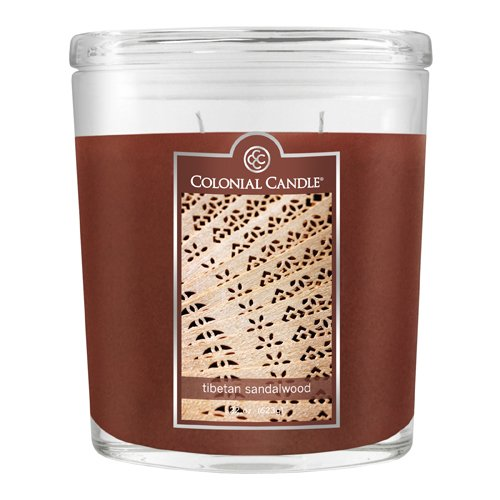 Fragranced in-line Container CC022.1866 22oz. Oval Tibetan Sandelwood Candles - Pack of 2