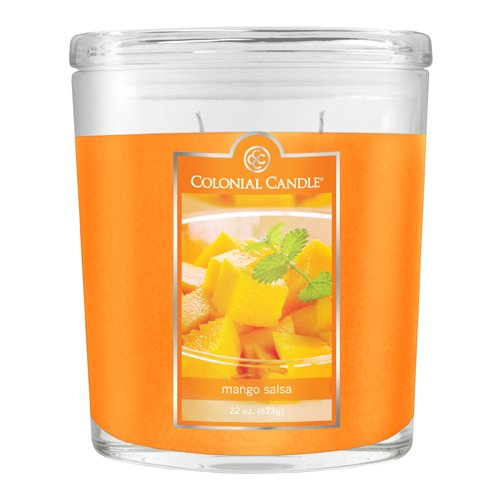 Fragranced in-line Container CC022.2073 22oz. Oval Mango Salsa Candles - Pack of 2