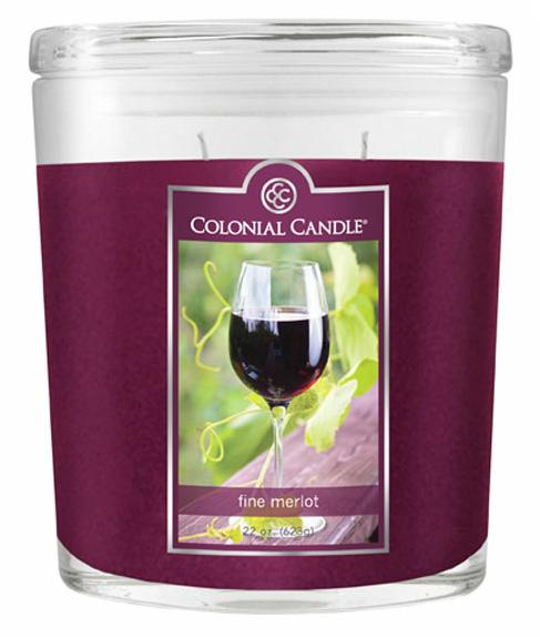 Fragranced in-line Container CC022.584 22oz. Oval Fine Merlot Candles - Pack of 2