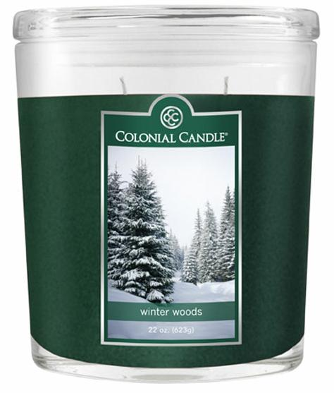 Fragranced in-line Container CC022.706 22oz. Oval Winter Woods Candles - Pack of 2