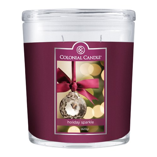 Fragranced in-line Container CC022.927 22oz. Oval Holiday Sparkle Candles - Pack of 2
