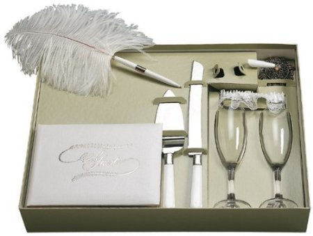 Darice VL2000 Victoria Lynn Bridal Gift Set with Guest Book