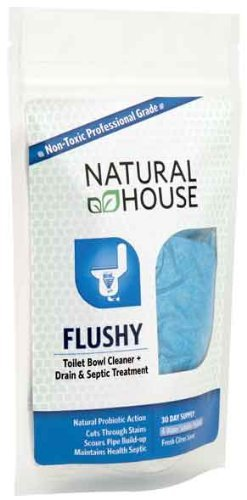 Aquagenics Tech  1402 ''Flushy'' Toilet Bowl Cleaner + Drain and Septic Treatment (30 Day Supply-Cas
