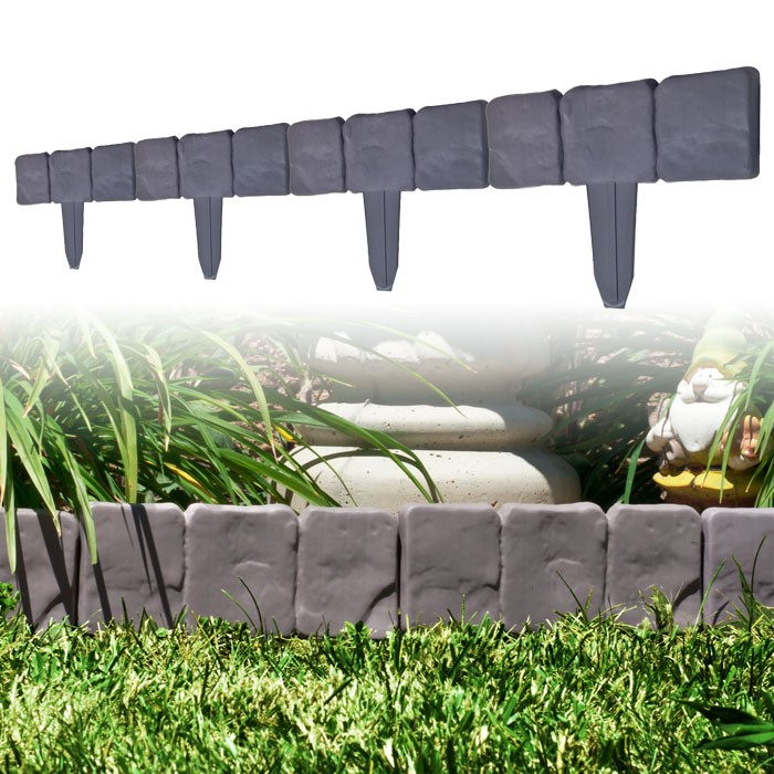 82-YJ459 10 Piece Cobblestone Flower Bed Border by TerraTrade