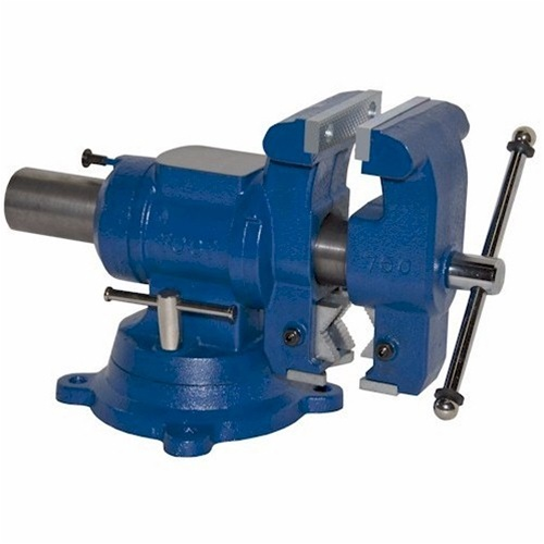 Yost Vises 750-DI 5-1/8 Multi-Jaw Rotating Combination Pipe and Bench Vise