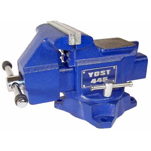 "Yost Vises 10445 4.5""W Jaw Steel Utility Bench Vise"