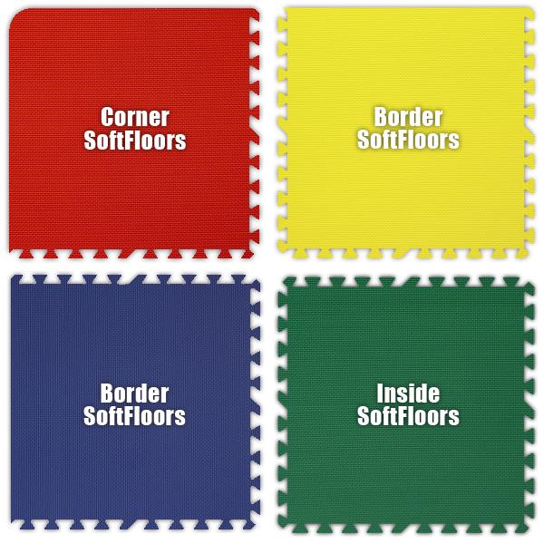 Alessco SFRYBG1010 SoftFloors -Red- Yellow- Blue- Green -10  x 10  Set