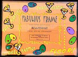 Bellissimo FFRS-9000 Hand Painted One MartiniTwo Martini Design 5 x 7 Inch Frame with Rectangle Photo Opening