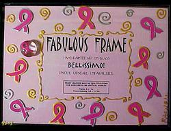 Bellissimo FFRS-9003 Hand Painted Pretty in Pink Design 5 x 7 Inch Frame with Rectangle Photo Opening