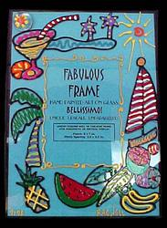 Bellissimo FFRS-9196 Hand Painted Caribbean Excitement Design 5 x 7 Inch Frame with Rectangle Photo Opening