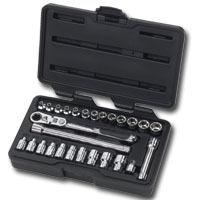 KD Tools KDT891427 27 Piece 1/4 Inch Drive GearRatchet Set with Locking Flex Handle