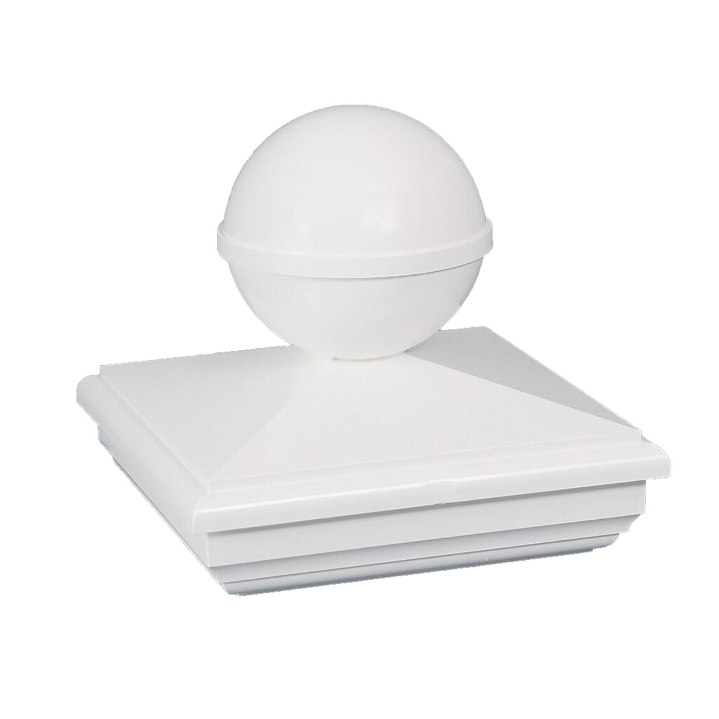Classy Caps BN255 NEW ENGLAND BALL PVC POST CAP 5X5 - White