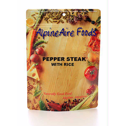 Alpine Aire Foods 10402 PepperSteak withRice Serves2
