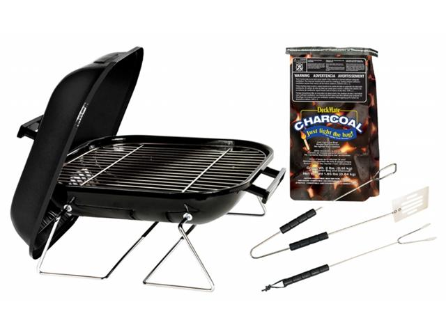 Akerue Industries 30103 14 in. Tabletop Charcoal Grill With Charcoal & Tool Set