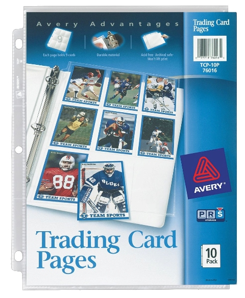 Avery 76016 Avery 76016 Acid Free Trading Card Pages 10 Count