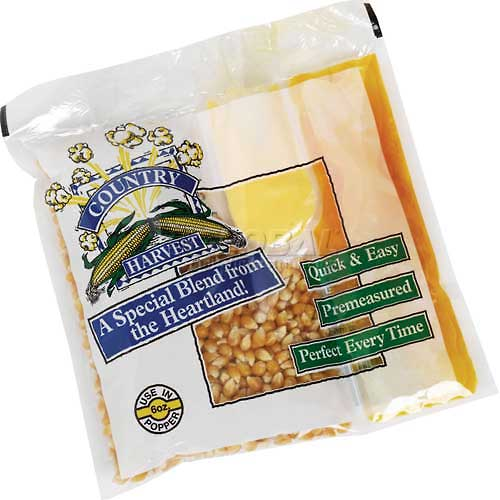 Paragon - Manufactured Fun 1102 Country Harvest 6 oz Tri-Pack Popcorn - 40 Pack Mega Case