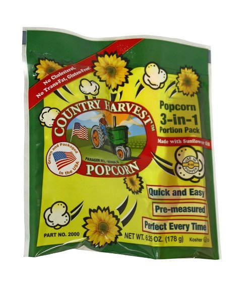 Paragon - Manufactured Fun 2000 Country Harvest 4 oz Healthy Choice Popcorn - 24 Pack Regular Case